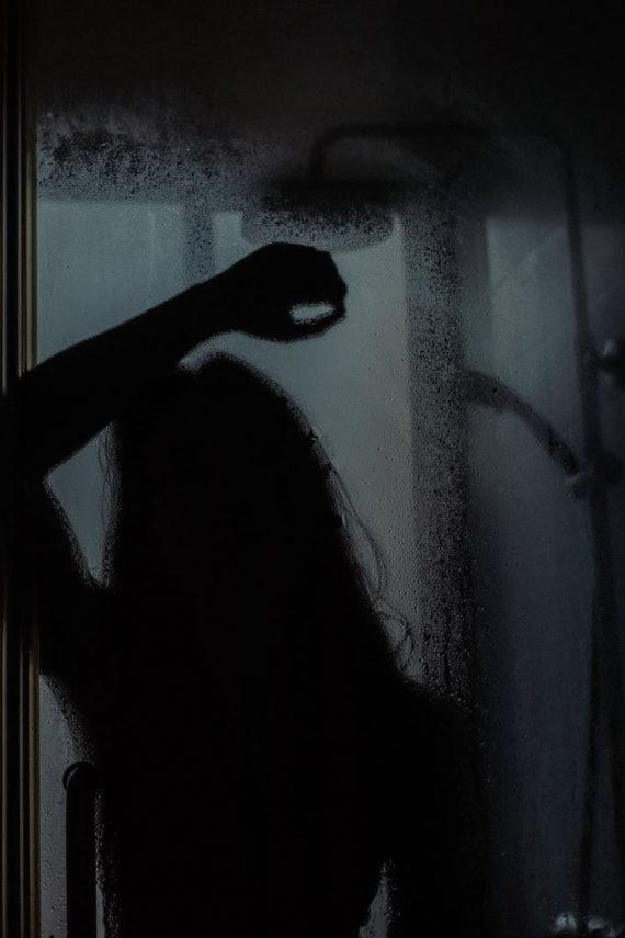 γυναίκα, σκιά, κατάθλιψη
